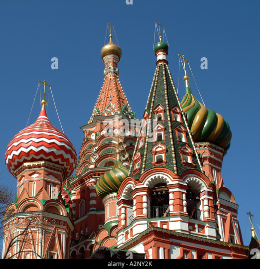 St Basils Cathedral On Red Square Moscow Russia A Major