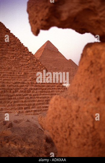 THE PYRAMIDS OF GIZA NEAR CAIRO EGYPT Stock Foto