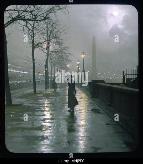 Embankment Lantern Slide Stock Foto