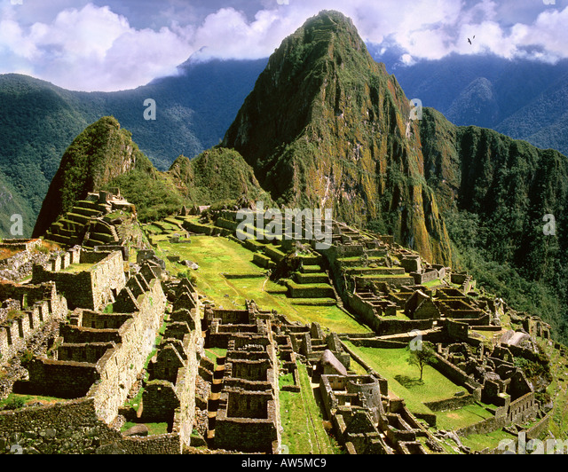 PE - CUZCO: Machu Picchu, the old Inca city in the Andes Stock Foto