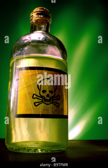 Poison bottle Stock Photo