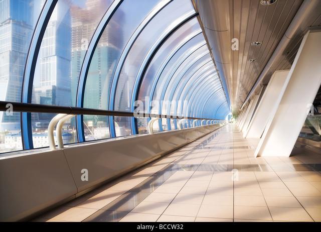 Modern bridge interior Wide angle view Stock Foto