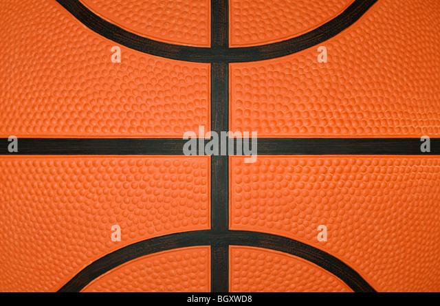 Basketball Close Up Stock Photo