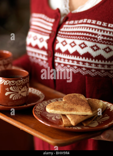 Cinnamon cookies, Sweden. Stock Foto