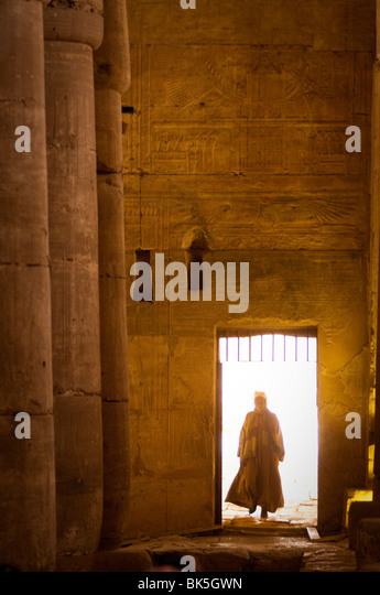Interior of the Temple of Seti I, Abydos, Egypt, North Africa, Africa Stock Foto