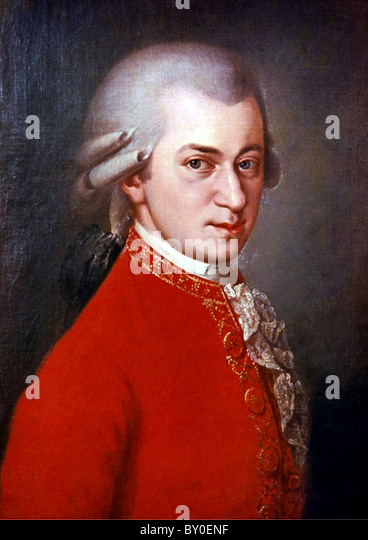 Mozart, Composer Wolfgang Amadeus Mozart Stock Foto