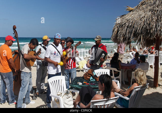 Son Musicians at Playa del Este , Santa Maria Del Mar, near Havanna Cuba Stock Foto