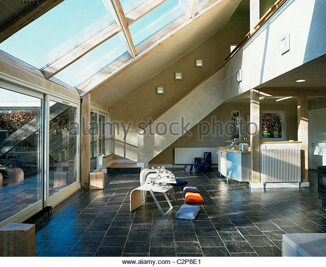 House for the Future, Cardiff, Wales. Cooking eating area. Stock Foto