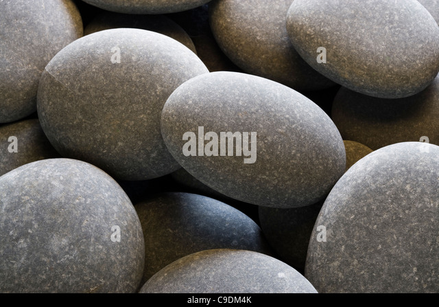 Pebbles (limestone). Stock Foto