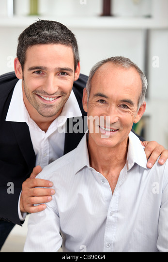 portrait of father and son Stock Foto