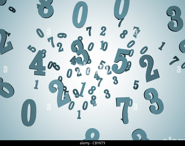 Numbers background 3D Stock Foto