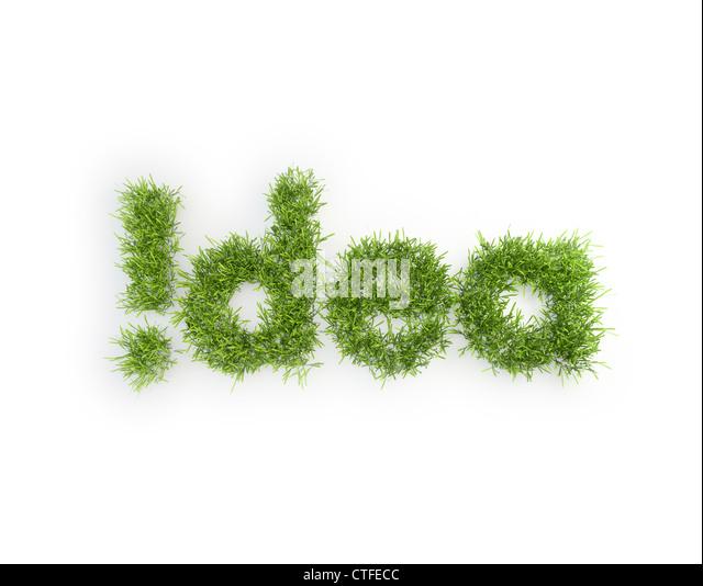 Idea grass patch - creativity concept Stock Foto