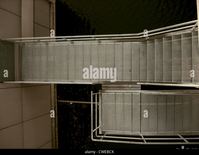 staircase,steps,stainless steel Stock Foto