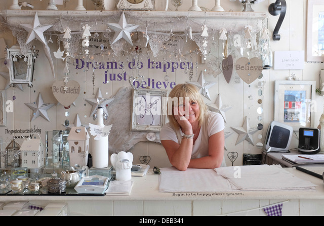 Happy Smiling Middle Aged Woman Self Employed Owner Of A Small Stock Photo Royalty Free Image