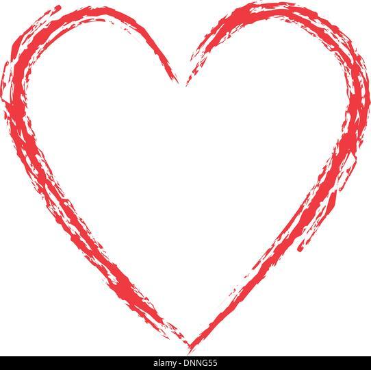 Grunge style heart Stock-Vektorgrafik