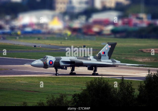 Avro 698 Vulcan B2  strategic bomber at Farnborough International Airshow 2014 Stock Photo