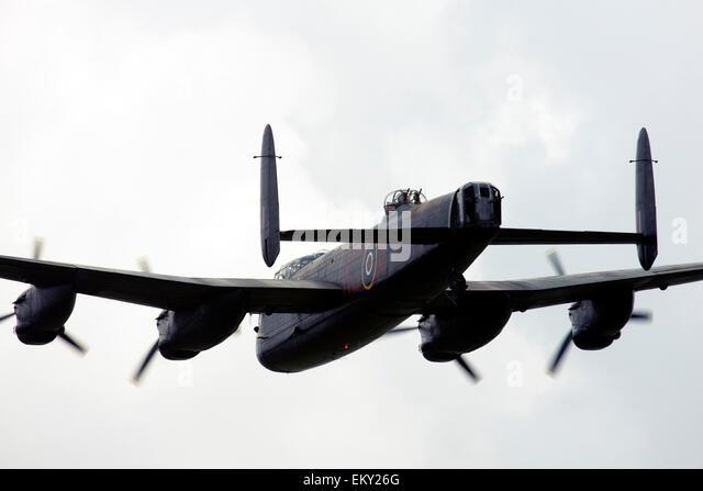 Avro 683 Lancaster B1 UK Royal Air Force at  Farnborough International Airshow 2014 Stock Photo