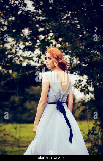 Beautiful ginger historical girl Stock Foto