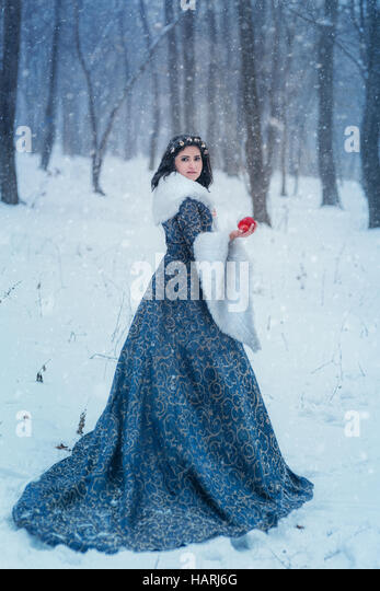 Portrait of Snow White Stock Foto
