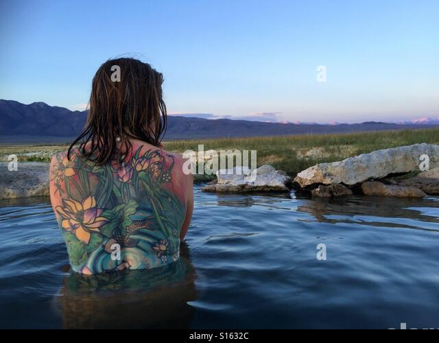 Tattoo hot spring Stock Foto